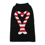 Candy Cane dog sweater, dog sweaters, large dog attire, big dog clothes, large dog sweaters, sweaters for big dogs