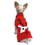 Red Nose Reindeer Dog Sweater,  dog sweaters, large dog attire, big dog clothes, large dog sweaters, sweaters for big dogs