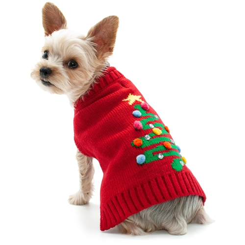 Christmas Sweaters For Dogs.Christmas Tree Dog Sweater