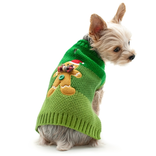 Christmas Sweaters For Dogs.Gingerbread Man Dog Sweater
