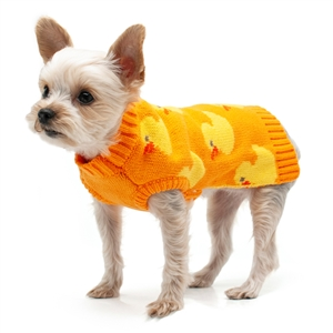 Cozy Duck Dog Sweater, winter dog apparel, big dog sweaters