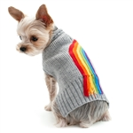 Turtleneck Rainbow Dog Sweater, dog sweaters, dog hoody, dog winter clothing,  Large dog sweaters, BowWowsbest.com