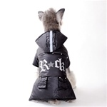Rock Star Hooded Dog Parka from BowWowsBest.com | Dog Sweaters, Dog Winter Sweaters, Dog Clothes, Designer Dog Clothes, Dog Beds, Designer Dog Beds, Designer Dog Harness, Dog Clothing, Dog Accessories, Dog Winter Clothing,