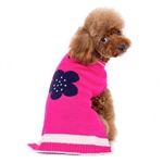 PP Flower Dog Sweater, big Dog Sweater, winter dog attire, dog sweaters