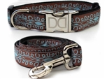 Calligraphy Dog Collars and leash, ribbon dog collars, big dog collars