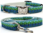 South Beach Dog Collars and leash, ribbon dog collars