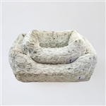 Hello Doggie Animal Print Luxe Dog Bed, snuggle beds for dogs, donut beds for dogs, BowWowsbest.com, pet beds, cat beds, Hello Doggie