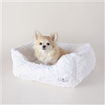 Hello Doggie Bella Dog Bed, snuggle beds for dogs, donut beds for dogs, BowWowsbest.com, pet beds, cat beds, Hello Doggie