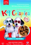 K9 Crispies Chicken Dog Chips, low fat dog cookies, dog training treats, Gourmet Dog Treats