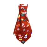 Santa Tie Slider, Dog Bow Ties, formal attire for Dogs, Dog Christmas attire