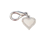 Enchanted Heart Dog Collar Charm, Dog Collar Pendants, Cat bell charms