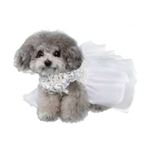 Aurora Dog Wedding Dress, dog wedding attire, dog formal attire, BowWowsbest.com