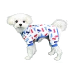 Car Dog Pajama, dog pajamas, dog sleepwear