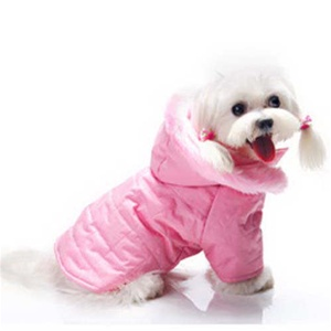 Pink Girl Dog Coat With Hood Designer Pooch Outfitters