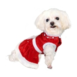 Noella Santa  Dog Dress, Dog Dresses, dresses for dogs, dog costumes, dog Christmas dresses, poochoutfitters.com, bowwowsbest.com