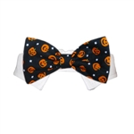 Pumpkin Dog Bow Tie, dog bow ties, bow ties for dogs, dog wedding attire, dog Halloween costumes