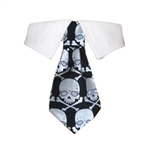 Crossbones Dog Shirt Collar, Dog Bow Ties, wedding attire for Dogs