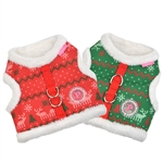 Noelle Pinka Dog Harness, dog harnesses, dog harness vests, adjustable dog harnesses, Christmas dog harness vests