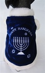 Happy Hanukkah Dog Coat Costume from BowWowsBest.com | The best in designer dog costumes, dog clothes, designer dog clothes, dog clothing, dog dresses, dog beds, dog harnesses, designer dog beds