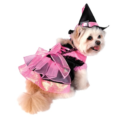 Shiny Pink Witch Dog Costume From Bowwowsbest Com The
