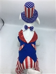 Uncle Sam Halloween Dog Costume, halloween dog costumes, patriotic dog costumes