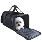 CARLE Ballistic Black Dog Carrier, Airline Approved