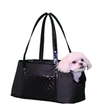 Ella Couture Quilted Dog Carrier Purse, pet carriers
