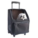 Rio Noir Dots Dog Carrier on Wheels