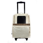 Rio Quilted Luxe Black Dog Carrier on Wheels