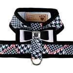 Classic Glen Houndstooth Tinkie Harness with Really Big Bow and Trim, BowWowsBest.com, Susan Lanci Designs