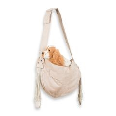 Doe Cuddle Dog Carrier with Fringe, dog purses, carriers for dogs, BowWowsbest.com,  Susan Lanci Designs