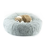 Platinum Shag Dog Bed, snuggle beds for dogs, donut beds for dogs, BowWowsbest.com, pet beds, cat beds, Susan Lanci Designs
