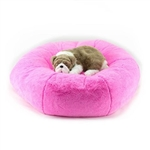 Perfect Pink Soft Cuddle Dog Bed, snuggle beds for dogs, donut beds for dogs, BowWowsbest.com, pet beds, cat beds, Susan Lanci Designs
