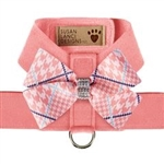 Peaches N' Cream Glen Houndstooth Tinkie Harness with Nouveau Bow, BowWowsBest.com, Susan Lanci Designs