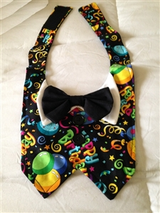 Birthday Tuxedo Vest and Bowtie Set, dog harnesses, dog costumes, big dog clothes