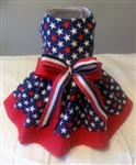 Stars Galore Patriotic Dog Dress, dog clothes, dog dresses, dresses for dogs, casual dog dresses, fancy dog dresses, dog costumes, big dog dresses