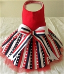 Stars and Stripes Patriotic Dog Dress, dog clothes, dog dresses, dresses for dogs, casual dog dresses, fancy dog dresses, dog costumes, big dog dresses