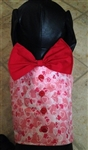 Hearts on Pink Glitter Valentine Dog Vest, dog harnesses, dog costumes, big dog clothes, Valentine dog attire