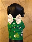 St. Patrick's Day Snoopy and Shamrocks Dog Vest, dog harnesses, dog costumes, big dog clothes, St. Patrick's Day dog attire