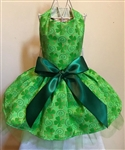 St Patrick's Day Shimmering Shamrocks Dog Dress, St. Patrick's Day Dog Attire, large dog clothes